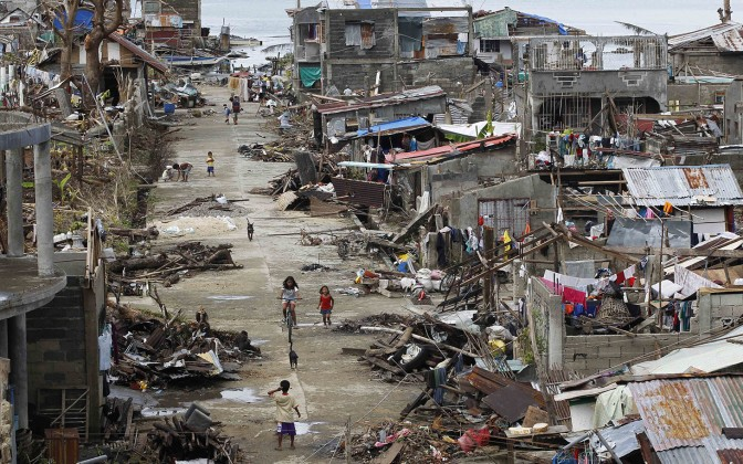 One month since Typhoon Haiyan hit the Philippines